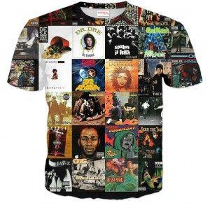 HIP HOP ALBUMY Koszulka Tshirt Full Print