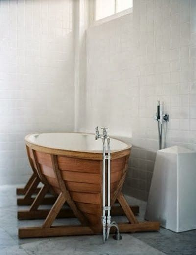 Cool ship-bathtub #design! ***love love love this, cool and quirky and its a effing boat people!***
