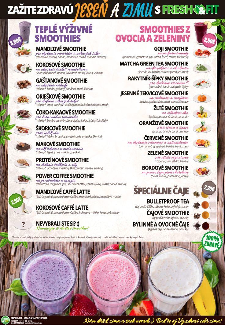 """Viete čo sa """"nosí"""", čo je moderné, in a trendy? :) My áno! Prinášame Vám nové kombinácie potravín zdravej výživy a prírodných surovín v úžasných teplých a výživných smoothies. - Fresh & Fit - Salad & Smoothie Bar"""