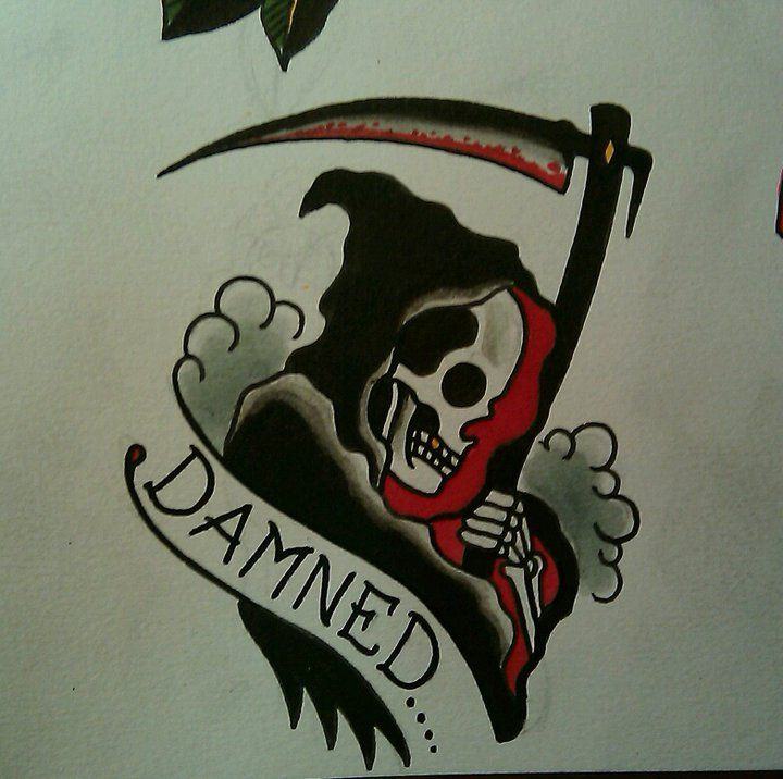Paul Nycz Damned Tattoo Flash   KYSA #ink #design #tattoo