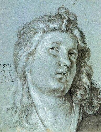 Albrecht Dürer. The head of Angel, 1506