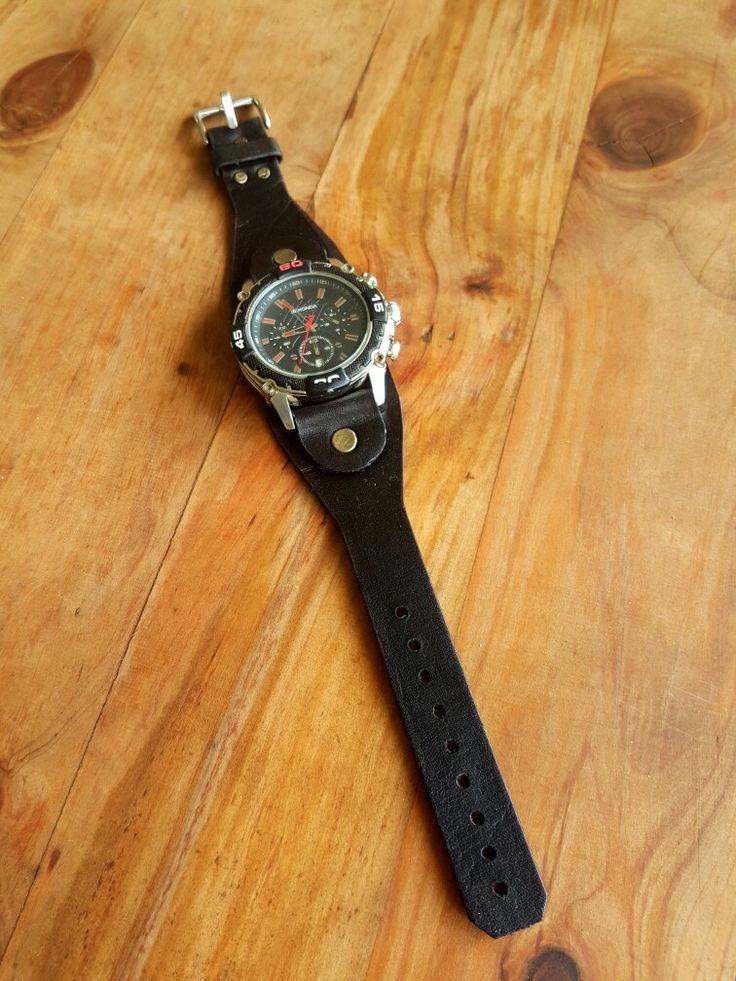 Custom watch strap. Very tan leather. Hand made.