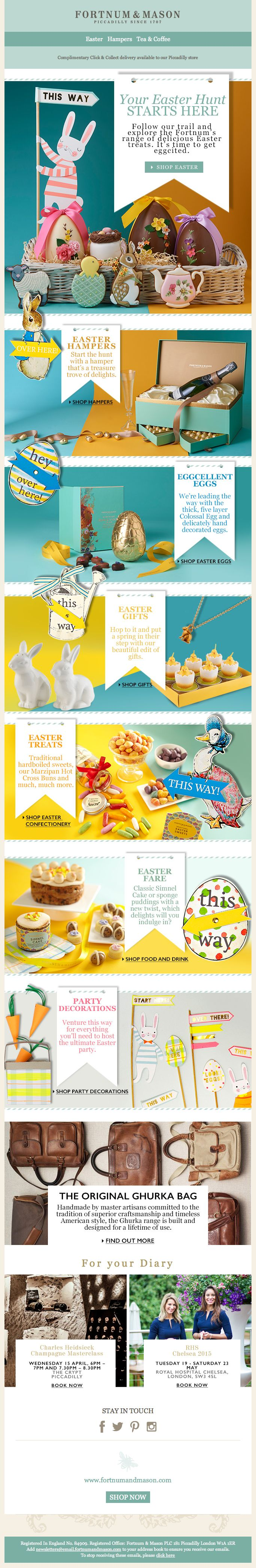 9 best email easter images on pinterest easter milling and coding fortnum mason time to get eggcited easter is here 17 mar 2015 negle Image collections