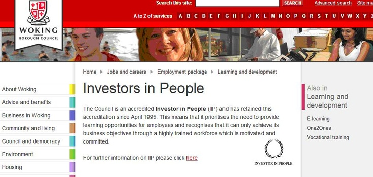 Woking Borough Council - IIP accredited since 1995