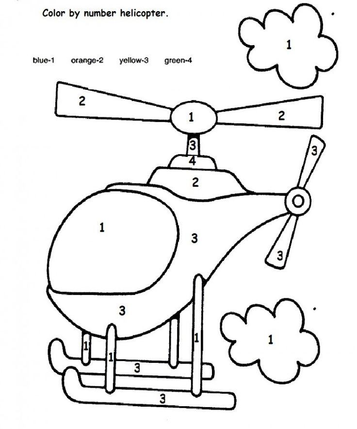 color by number helicopter | Crafts and Worksheets for Preschool,Toddler and Kindergarten