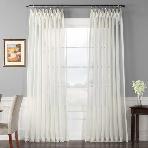 Exclusive Fabrics Signature Extrawide Double Layer Sheer Curtain Panel Sheer Curtain Panels White Sheer Curtains Panel Curtains