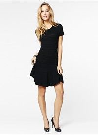 Pintuck Flared Sweater Dress #DYNHOLIDAY