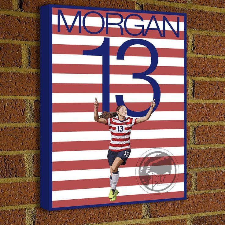 Alex Morgan 13 USWNT Canvas Print - USA Soccer Star - Pick Your Size, poster, art, wall decor, home decor, world cup, alex morgan canvas #soccer #wallart #decor #canvas #art #poster #graphicdesign #soccerart #football #futbol #etsy #g17 #graphics17 #etsy