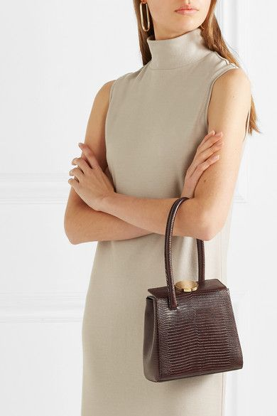 76a52a1176e2 Little Liffner | Mademoiselle lizard-effect leather tote | NET-A-PORTER.COM