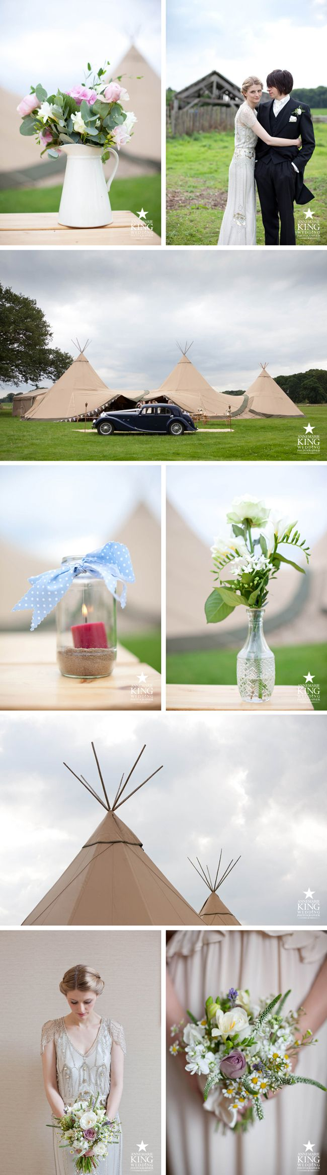 country wedding in teepee. Photography by Annemarie King