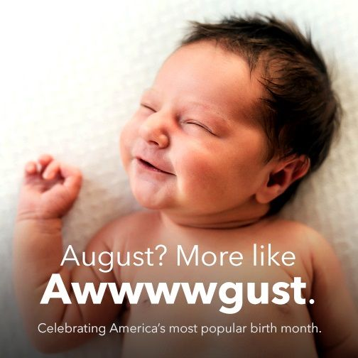 DYK August is the most popular birth month?
