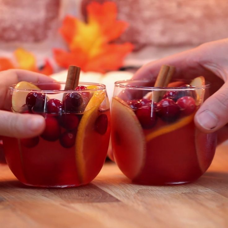 Cranberry Cider (if skipping the alcohol, could add cider and sparkling g water/ginger ale)