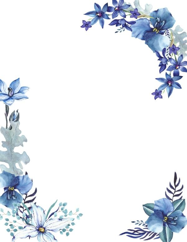 Free Printable Watercolor Flower Borders And Backgrounds
