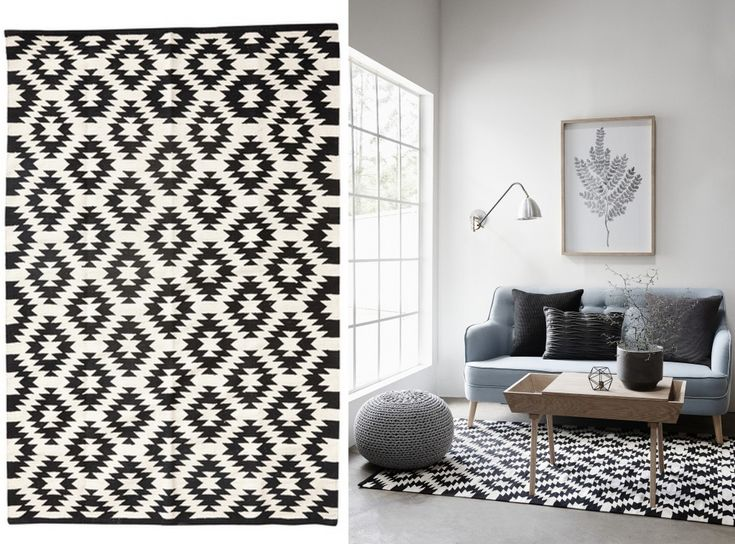 les 25 meilleures id es de la cat gorie tapis noir et blanc sur pinterest. Black Bedroom Furniture Sets. Home Design Ideas