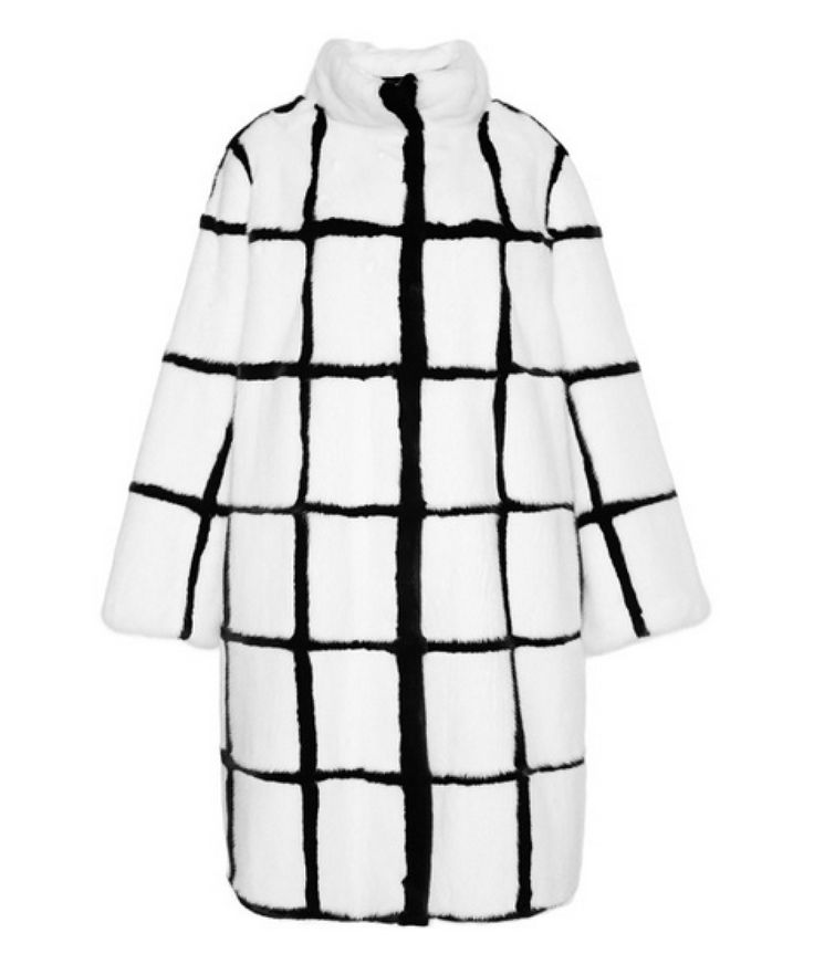 Helen Yarmak white and black mink coat, price upon request modaoperandi.com - Photo: Courtesy of modaoperandi.com