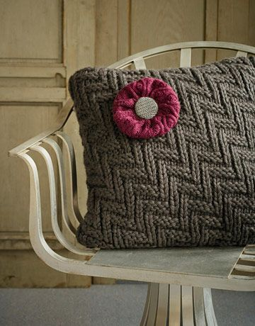 Recycled sweater pillows.
