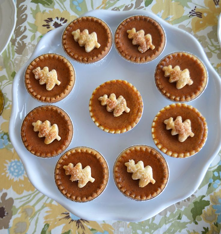 Pretty Autumn tarts - perfect for a Fall dinner party.