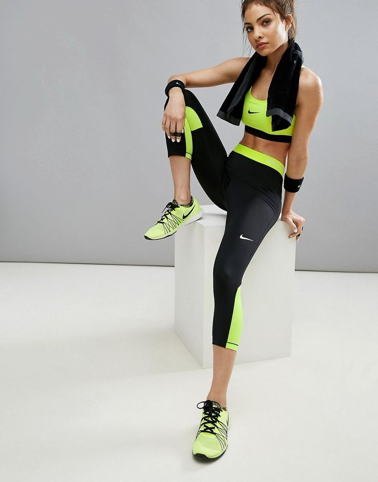 Get this Nike's basic leggings now! Click for more details. Worldwide shipping. Nike Pro Training Capri Leggings - Black: Leggings by Nike, Moisture-managing Dri-FIT fabric, Moves sweat away from the skin, Encourages surface evaporation, Helps to keep you dry and comfortable, Elasticated waistband, Contrast panels, Close-cut bodycon fit, Machine wash inside out in cold water, Air or tumble dry on a low heat, Heat will reduce the effectiveness of the technology, 80% Polyester, 20% Elastane…