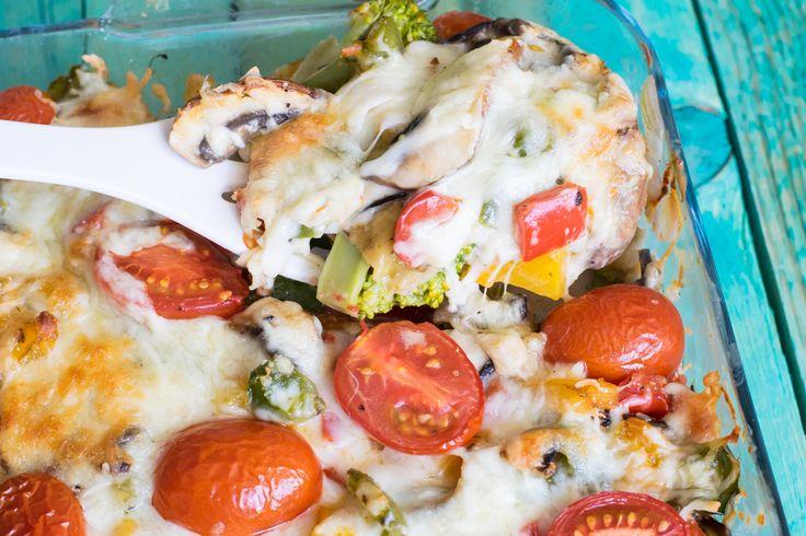 Eine kunterbunte vegetarische Lasagne für die ganze Familie! Total lecker, voller guter Nährstoffe und Vitamine und auch noch Low Carb!