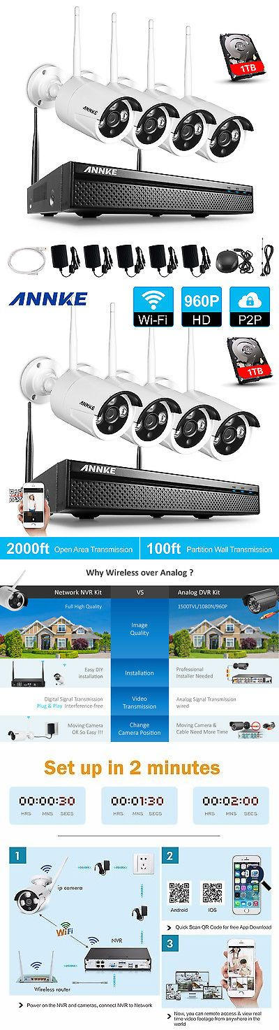 Surveillance Security Systems: Annke 4Ch 960P Hd Nvr Wireless Ip Network Cctv Home Security Camera System 1Tb -> BUY IT NOW ONLY: $239.99 on eBay!
