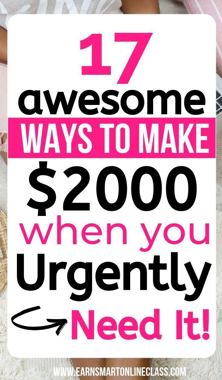 Benötigen Sie jetzt Geld? 19 Schnelle Möglichkeiten, noch heute an Geld zu kommen – Ways To Make Money Online