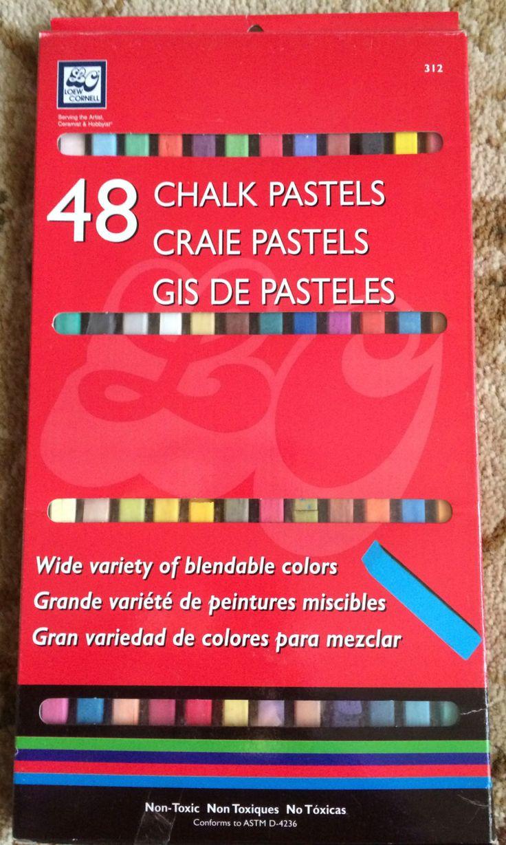 Loew Cornell Set of 48 Chalk Pastels-Blendable colors-New by Yarnsandmusings on Etsy