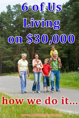 Living on $30,000 or Less: Raising a Family of 6 http://madamedeals.com/living-on-30000-or-less-raising-a-family-of-6/ #inspireothers