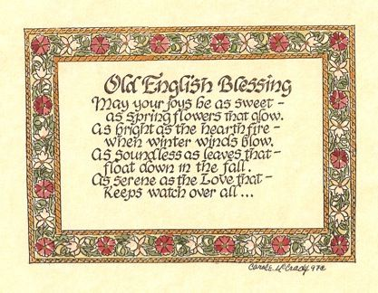 Old English Blessing Project Blessings And Prayers