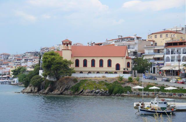Die Kirche von Neos Marmaras in Chalkidiki Sithonia