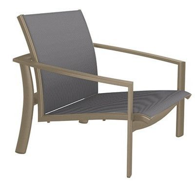 Tropitone KOR Relaxed Sling Spa Chair Seat Color: Rincon, Frame Finish: Moab