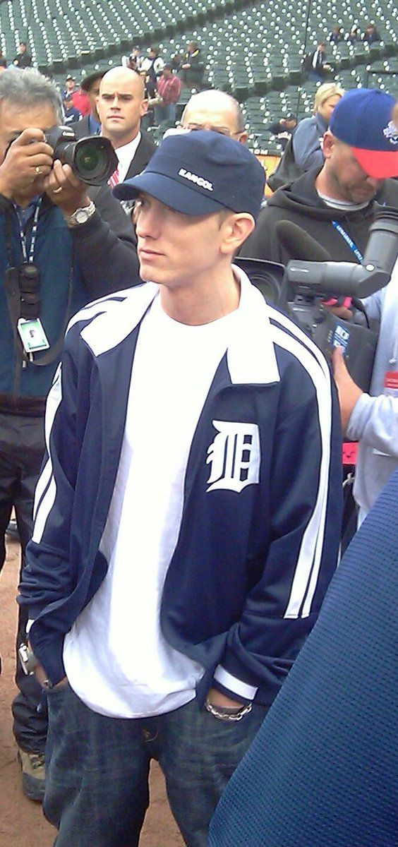 Here he is at a Tigers vs Yankees game. Even that slight smile, makes my whole day go great.