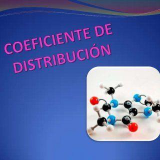 A partir del coeficiente de distribución es posible definir el grado de disociación,las constantes de equilibrio de la reacción que se desarrolla en una de. http://slidehot.com/resources/coeficiente-de-distribucion.25278/