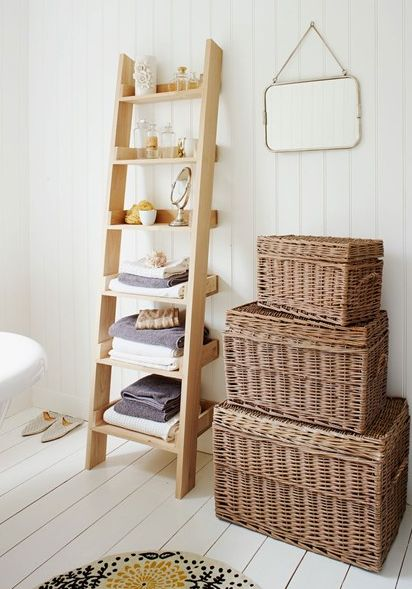 北欧バスルーム収納アイデア