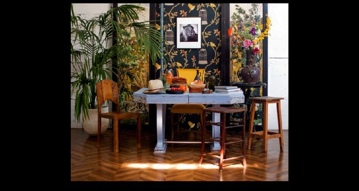 D coration campagne meubles campagne r tro vintage table de ferme chaise - Deco de table vintage ...
