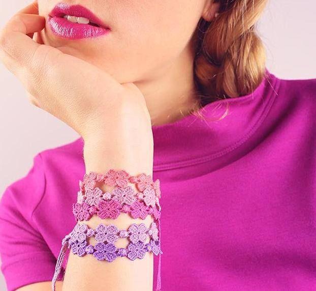 Love Crucciani bracelets  in pastel colors