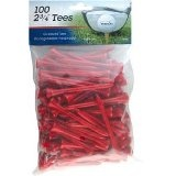 "INTECH Golf Tee 2 3/4"" 100 Pack (Red) (Sports)By Intech"