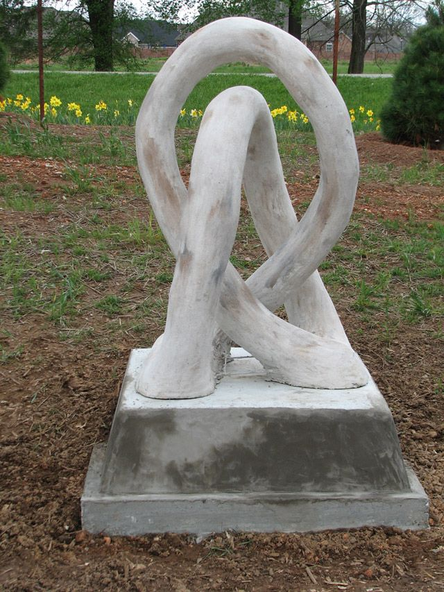 Building Garden Art Using Ferro-cement | State-by-State Gardening Web Articles | Six foot tall abstract sculpture