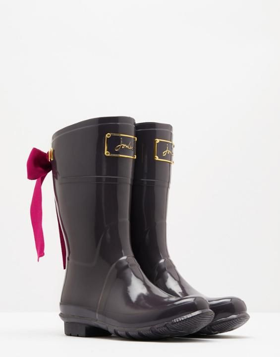 Evedon short Slate Grey Wellies  | Joules US