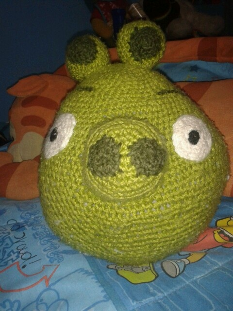 Chanchito verde angry birds