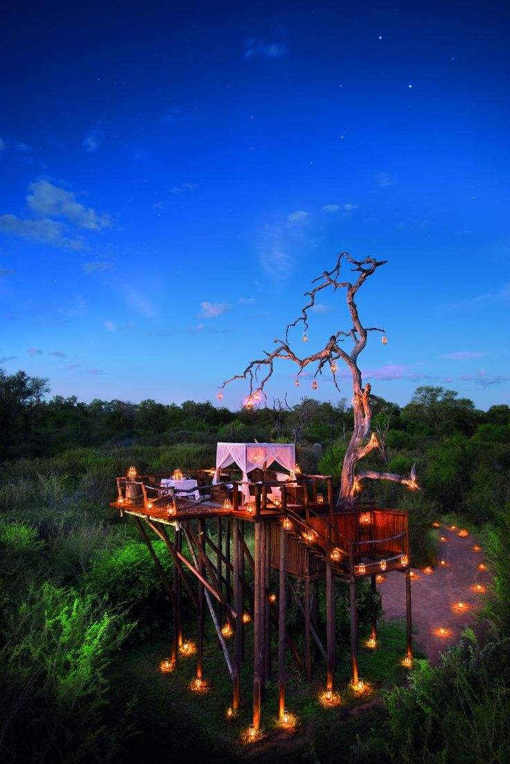 Treehouse at the Lion Sands Private Game Reserve, Mpumalanga, South Africa