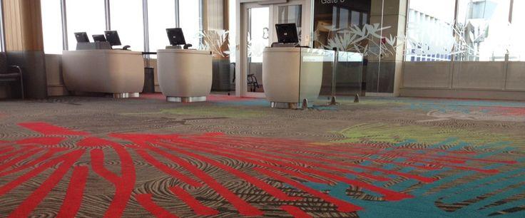 Auckland International Airport: Custom designed Axminster carpet by Irvine Flooring