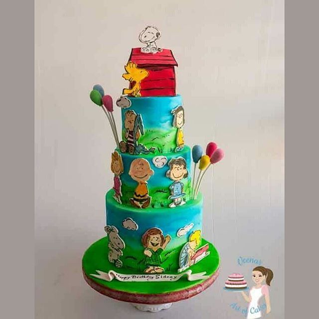 Charlie Brown and friends from the Peanut movie.  Airbrushed with @magic_colours_inside on @satin.ice fondant  #charlie #brown #peanutmovie #cake #cakedesign #cakedecorating #fondant #fondantart #tortas #resposteria #bolo #cakestagram #cakesinranana #VAOC