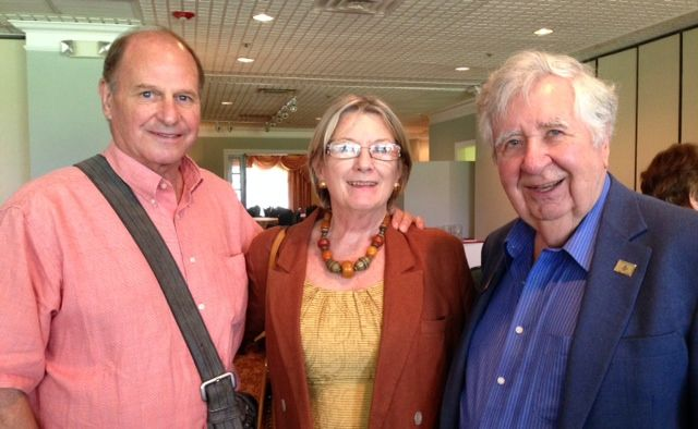 New SCAS members Duncan & Patricia Miller with former SCAS President Tom Halbert at the Sister Cities Perpignan luncheon at the SaraBay Country Club November 4,  2013