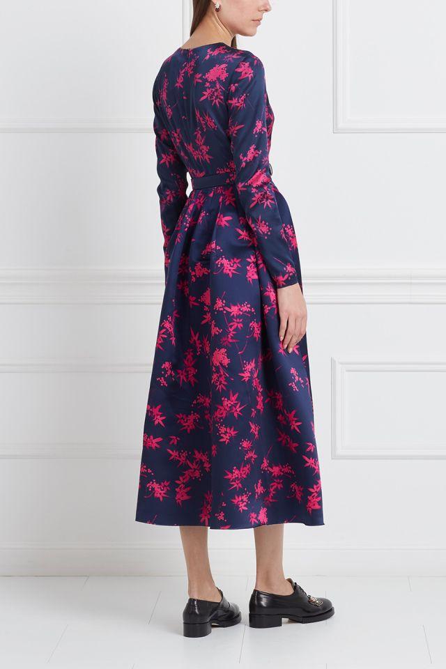 Шелковое платье Alexander Terekhov - Вечернее платье средней длины Alexander Terekhov в интернет-магазине модной дизайнерской и брендовой одежды