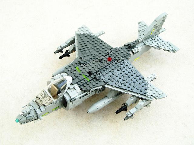AV-8B Harrier II LEGO MOC plane