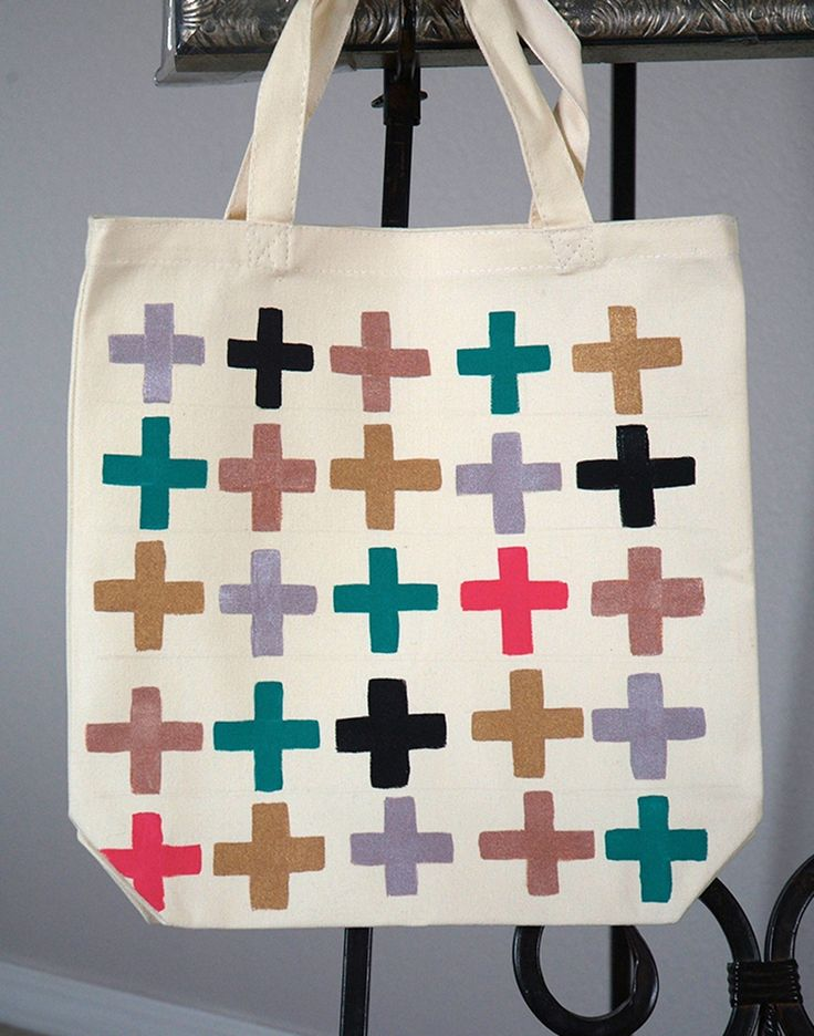 Painted Canvas Bag :: Two Ways