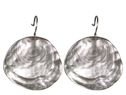 Me and Ro Me Silver Large Flat Shell Earring