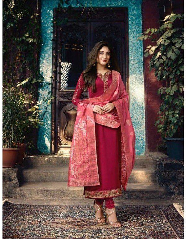 1fba0593e1 Kritika Kamra Wine Suit with Banarasi Dupatta in 2019 | Partywear ...