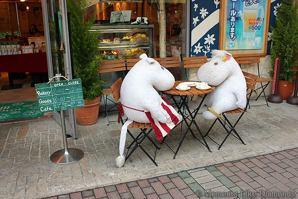 """The Moomin cafe where you can dine with a """"friend"""""""