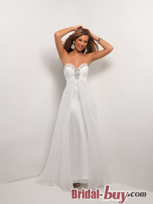 Chiffon Long White Prom/Evening Dresses